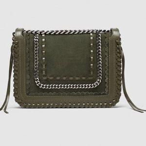 Zara Collection Crossbody with Chain Khaki Green